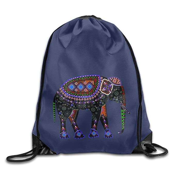 4e9a285e74 Image Unavailable. Image not available for. Color  National Cute  Elephant.png Sport Gym Sack Drawstring Backpack Bag