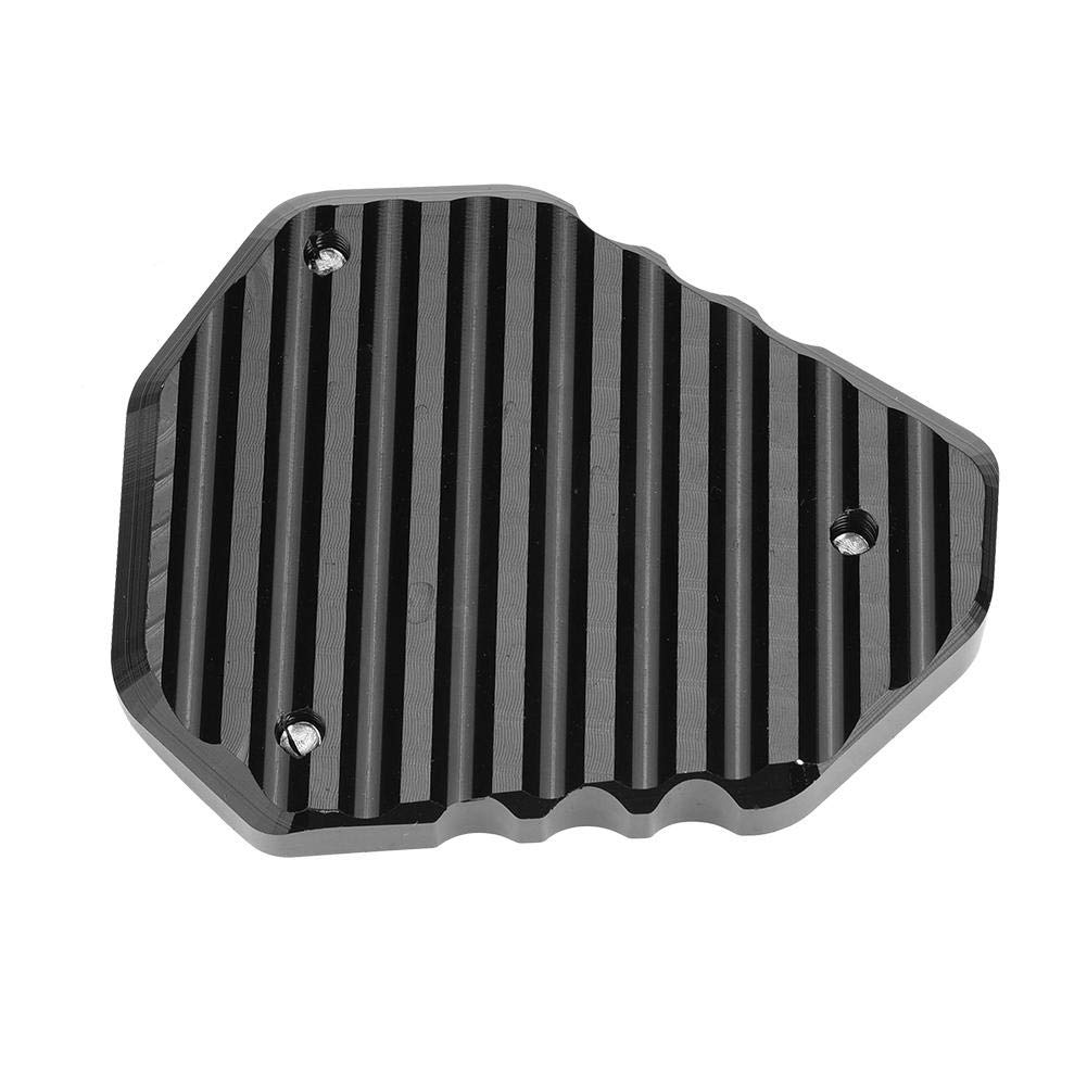 KIMISS Motorcycle Kickstand Pad CNC Kickstand Side Stand Enlarger Extension Pad for Kawasaki Versys//KLE 650 2015-2018 Aluminum Alloy and Stainless Steel