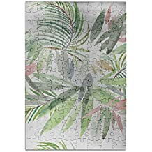 Sixokai Hand Assembled Puzzle Toys Seamless Pattern With Tropical Plant Exotic 120 Piece