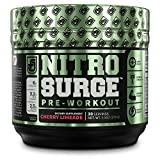 Cheap NITROSURGE Pre Workout Supplement – Endless Energy, More Strength, Sharp Focus, & Intense Pumps – Nitric Oxide Booster & Preworkout Energy Powder – 30 Serving, Cherry Limeaide ( 9.5 oz)
