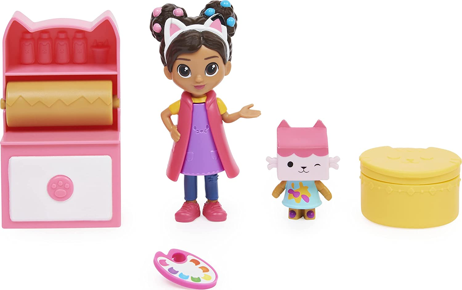 Gabby's Dollhouse DreamWorks, Art Studio Set with 2 Toy Figures, 2 Accessories, Delivery and Furniture Piece, Kids Toys for Ages 3 and up