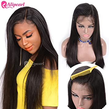 Short Lace Front Human Hair Wigs Brazilian Straight Bob Wigs Pre Plucked Hairline Natural Wigs For Black Women Alipearl Hair Wig Lace Wigs