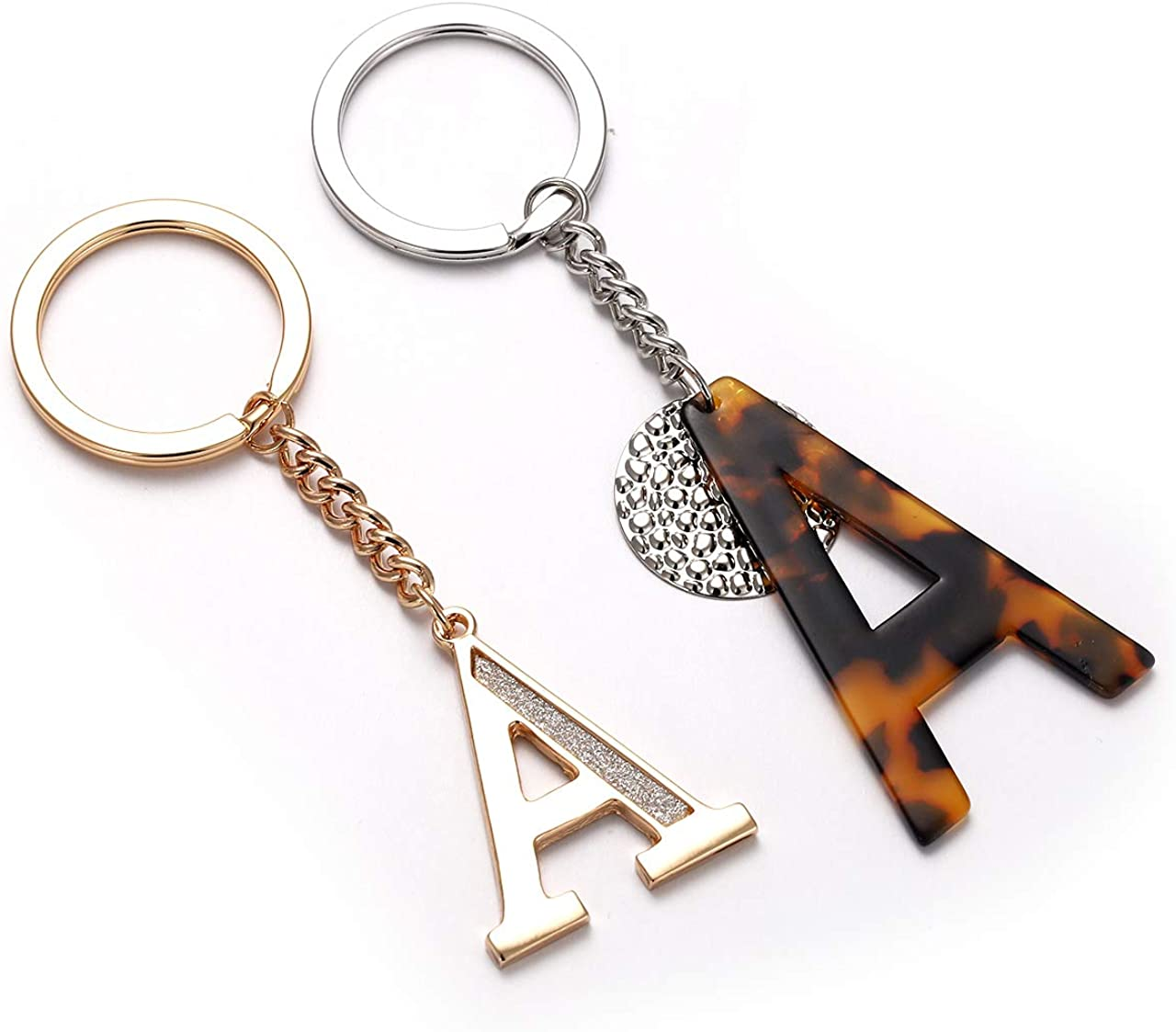 D Initial Keychain A-Z available in my shop Letter Key Chain