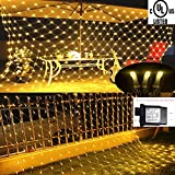 Cheng Yu 2017 Net Lights Fairy String 3M2M 200LED Light for Christmas Holiday Garden House Window Wall+ DC 30V Adapter(UL Certification) (3M2M)