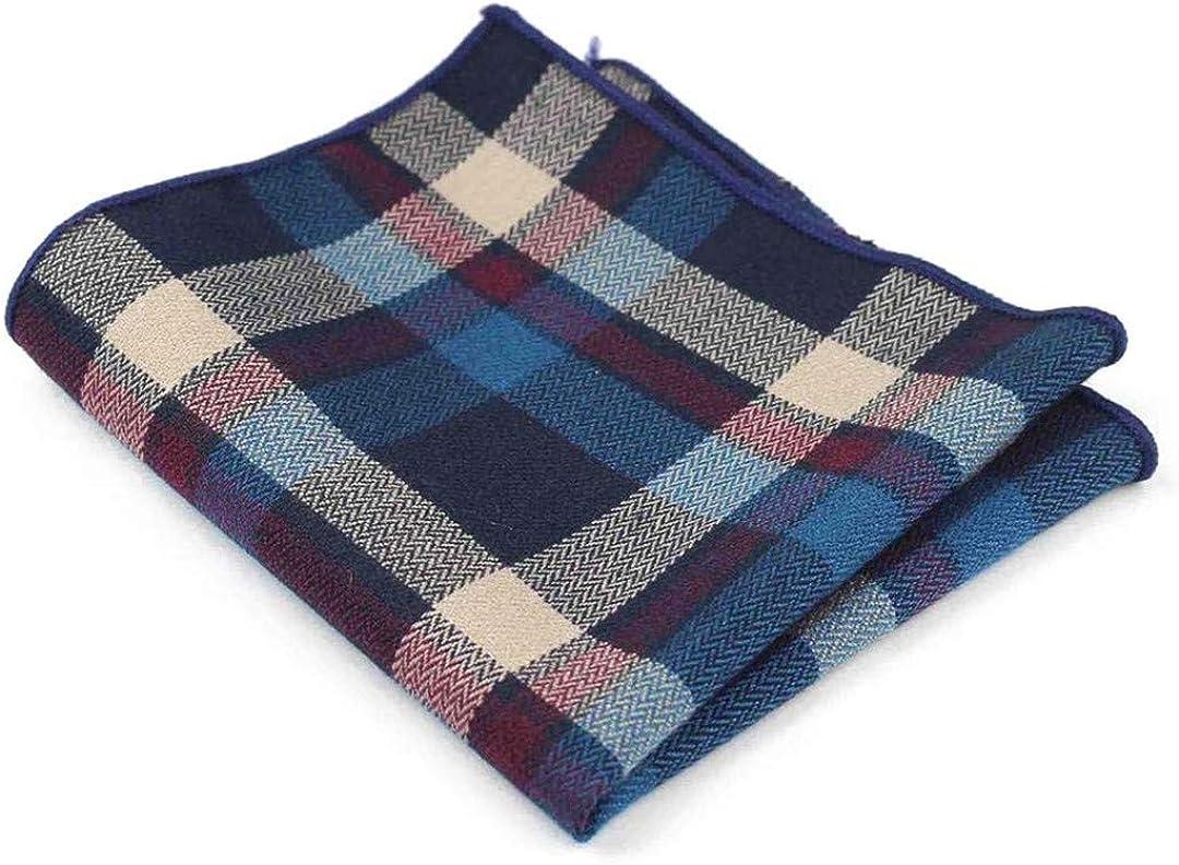 Cotton Handkerchiefs Plaid Pocket Square Mens Casual Towels