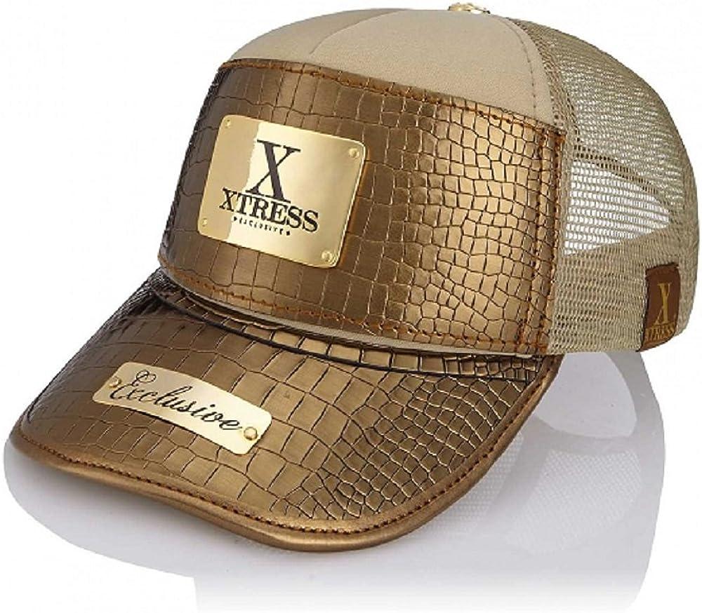 Xtress Exclusive Gorra dorada de diseño para hombre y mujer ...