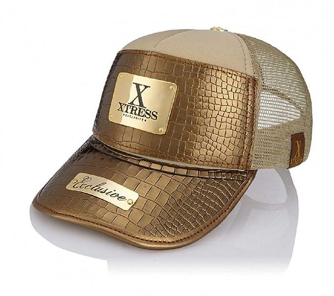 Xtress Exclusive Gorra dorada de diseño para hombre y mujer.: Amazon.es: Ropa y accesorios