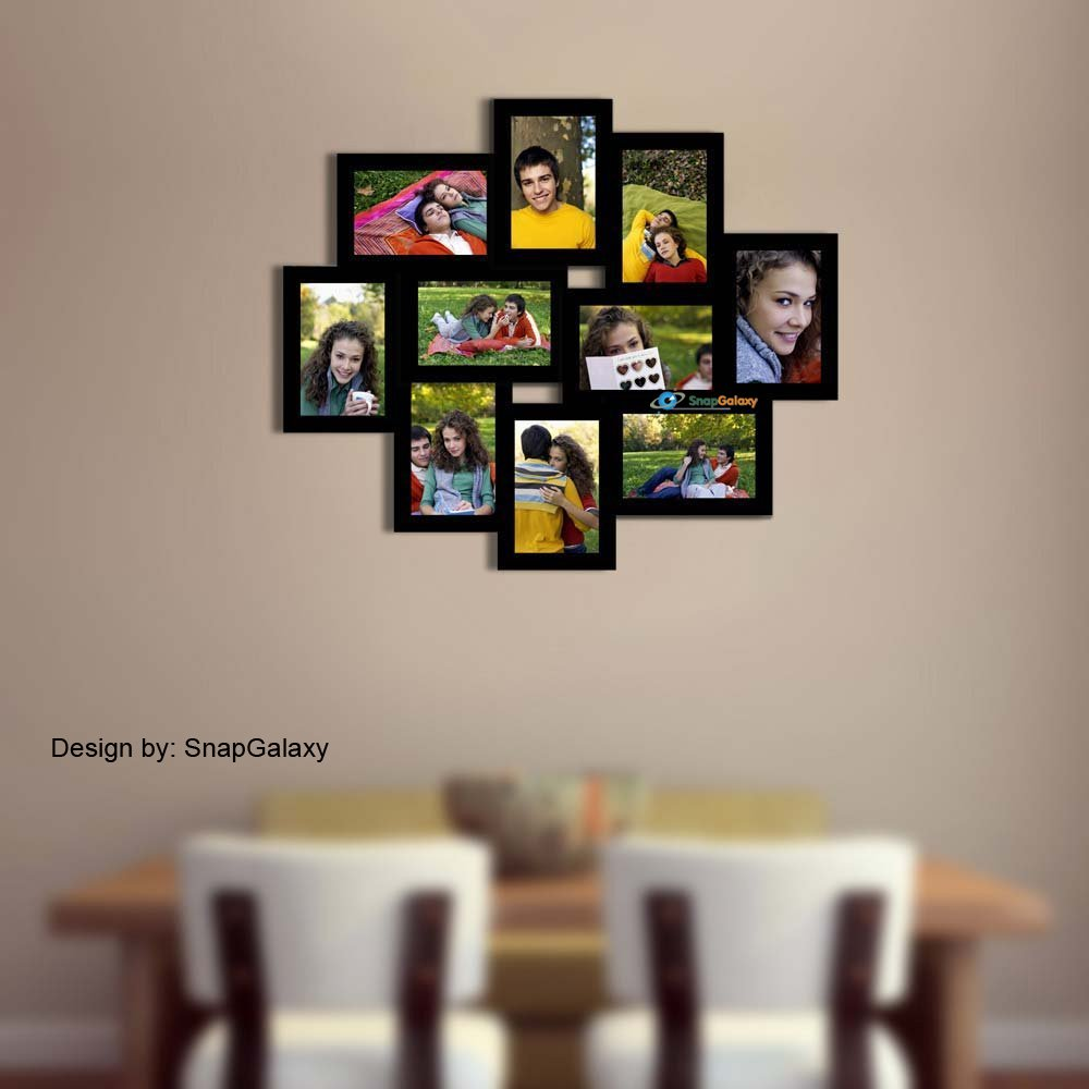 Buy Snapgalaxy Ten Photo Collage Frame, Black, 4x6 Online at Low ...