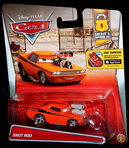 Disney Cars Snot Rod Snotrod Sheriff's Impound Lot Edition #1 of 6 Mattel 1:55 Scale Diecast - Lot Disney Cars
