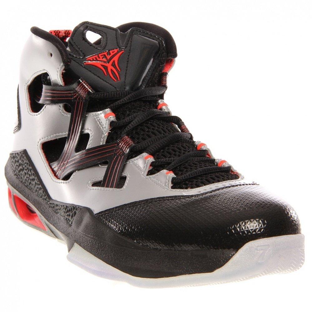 buy popular 8af44 e535f Jordan Nike Men's Melo M9 Mtllc Slvr/Mtllc Slvr/Blck/BRG Basketball Shoe 9  Men US