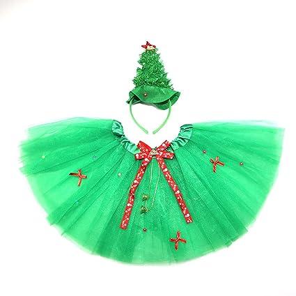 Tinksky 2pcs/set Christmas Tree Costumes Headband Wand Tutu Skirt Set Angle Girls Fairy Dress  sc 1 st  Amazon.com & Amazon.com: Tinksky 2pcs/set Christmas Tree Costumes Headband Wand ...