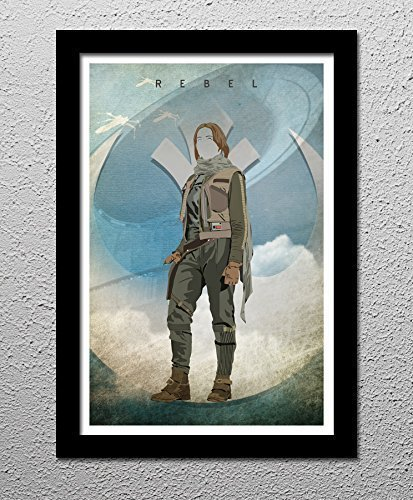Jyn Erso Star Wars Rogue One Minimalist Poster Art