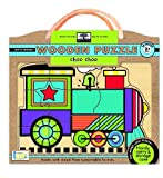 green start wooden puzzles: choo choo - Earth Friendly Puzzles with Handy carry & storage case
