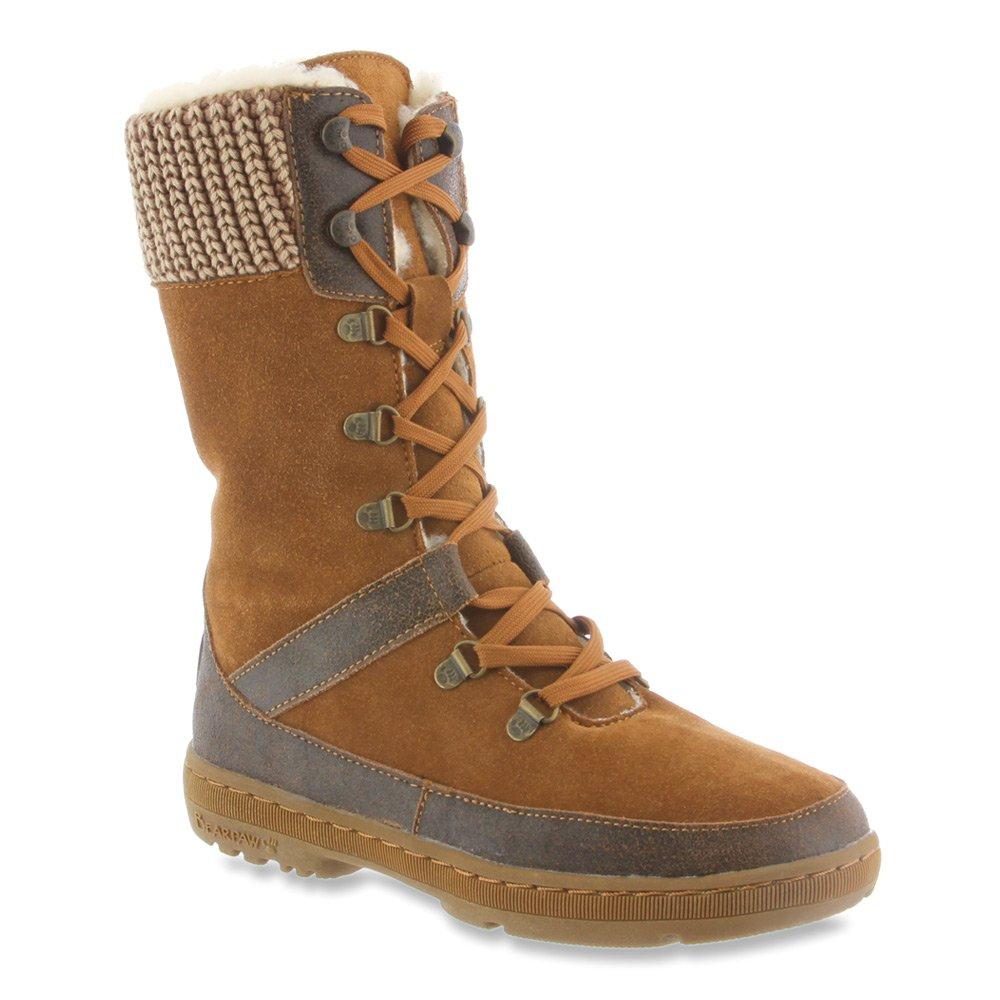 BEARPAW Women's Serena Suede, Sheepskin Snow Boots B00TE1P8MQ 10 B(M) US|Hickory