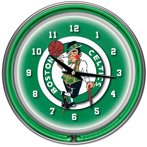 NBA Boston Celtics Chrome Double Ring Neon Clock, ()