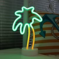 Coconut Palm Tree Neon Signs LED Light Sign With Holder Base For Party Supplies