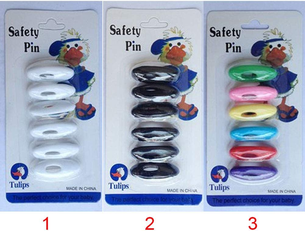 6 Pcs Muslim Multi-Use Plastic Safety Brooch Pins for Women Muslim Hijab Islamic Scarf Accessories Color