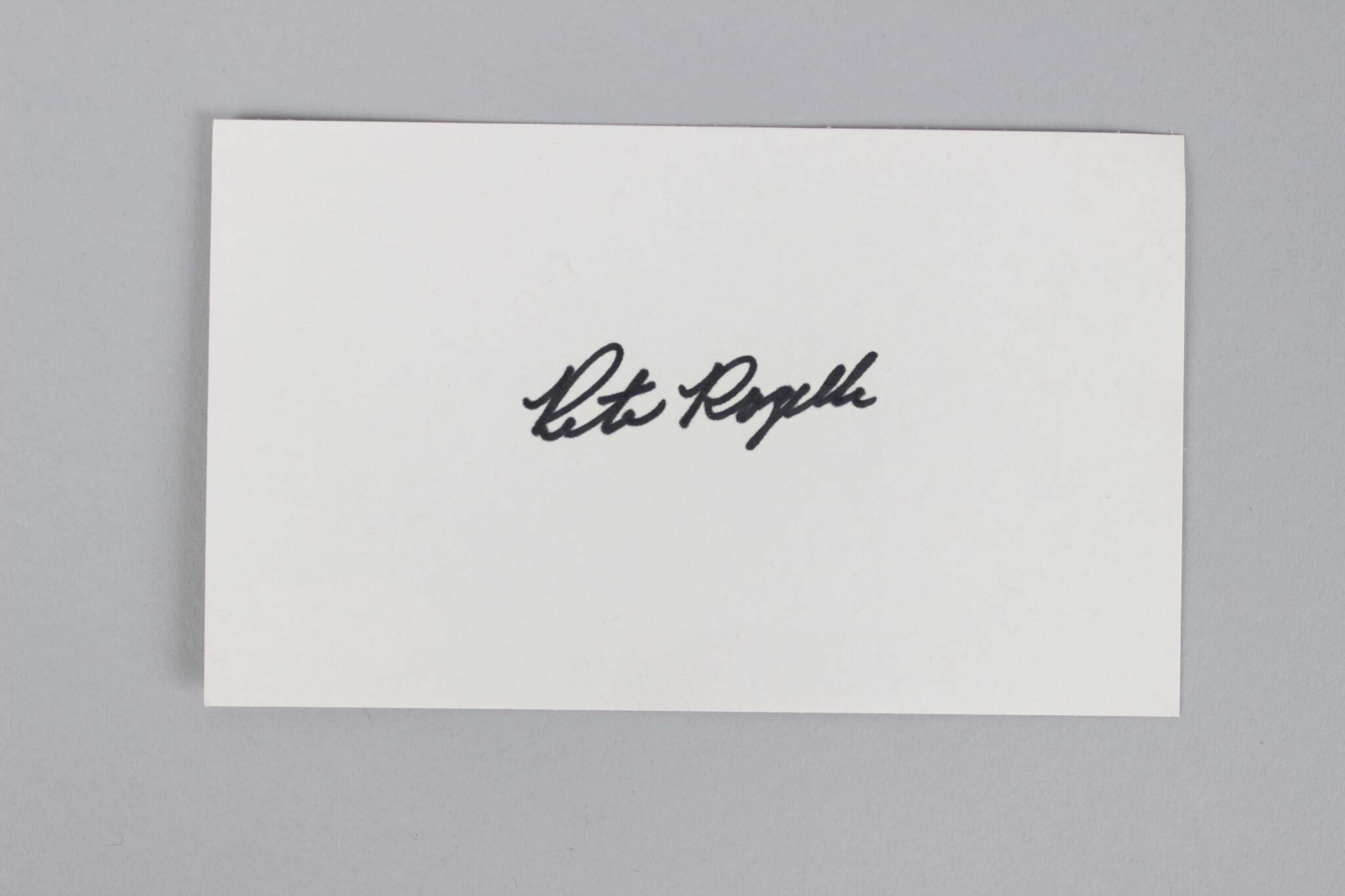 Pete Rozelle Signed Index Card NFL Commissioner COA JSA Certified NFL Cut Signatures