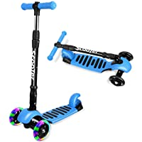 I·CODE 3 Wheel Scooter for Kids, Premium Kick Scooter with Anti-Slip Deck,Flashing...