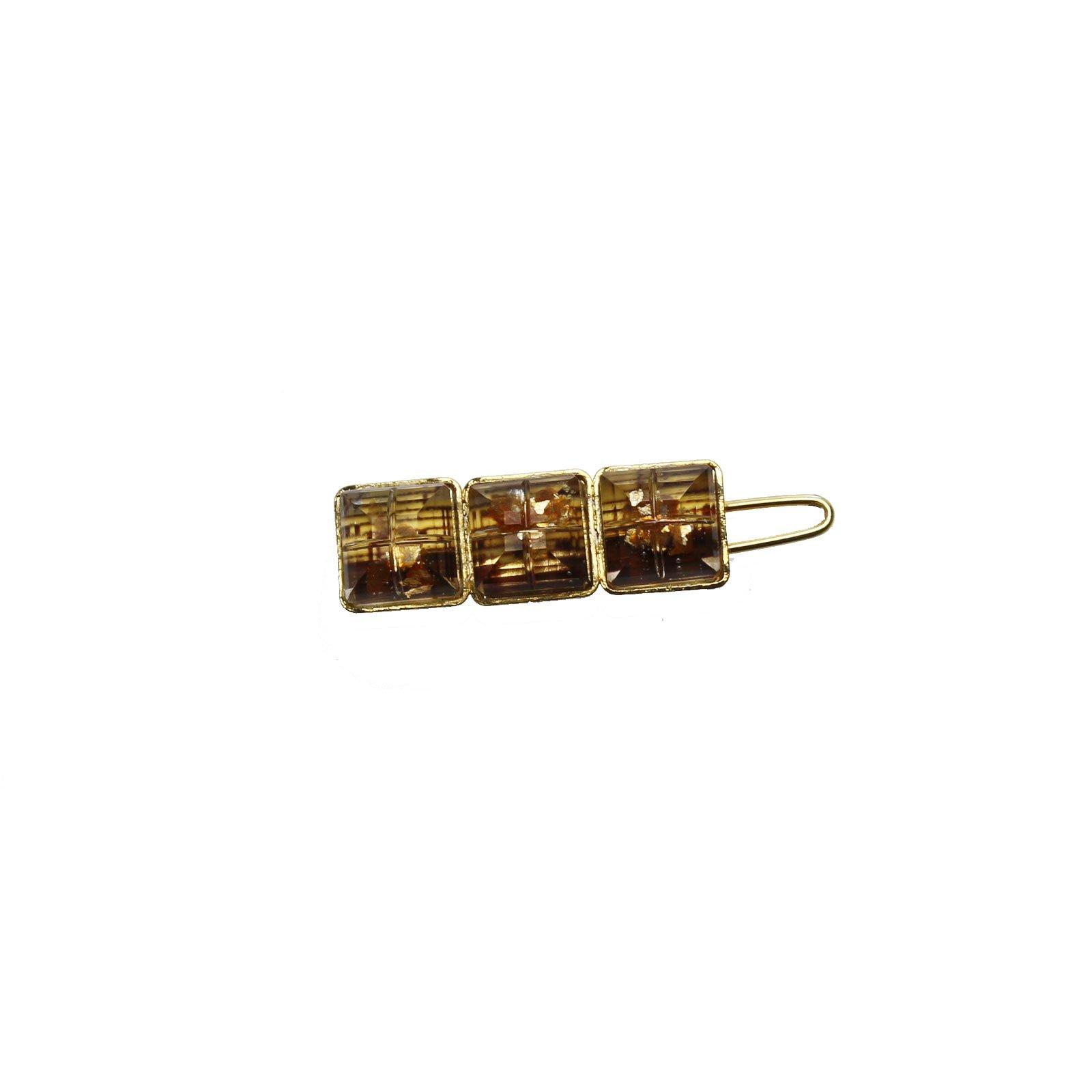 Tamarusan Hairpin Clip Hair Pinned Golden Yellow Gold Clip Unisex