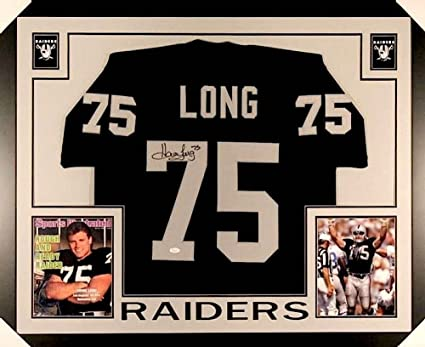 cheap for discount a5067 6aff4 Howie Long Signed Raiders 35x43 Custom Framed Jersey (JSA ...