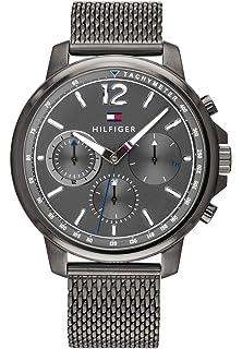 Tommy Hilfiger Herren Multi Zifferblatt Quarz Uhr mit Edelstahl Armband  1791530 4e0093e5f6