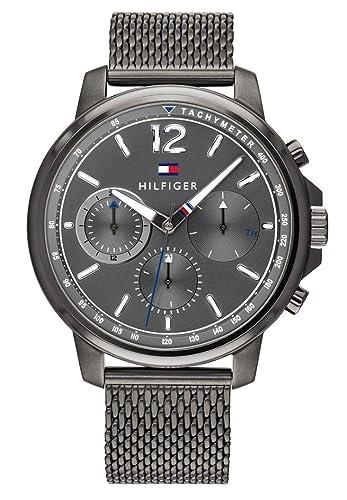 Tommy Hilfiger Reloj Multiesfera para Hombre de Cuarzo con Correa en Acero Inoxidable 1791530: Amazon.es: Relojes