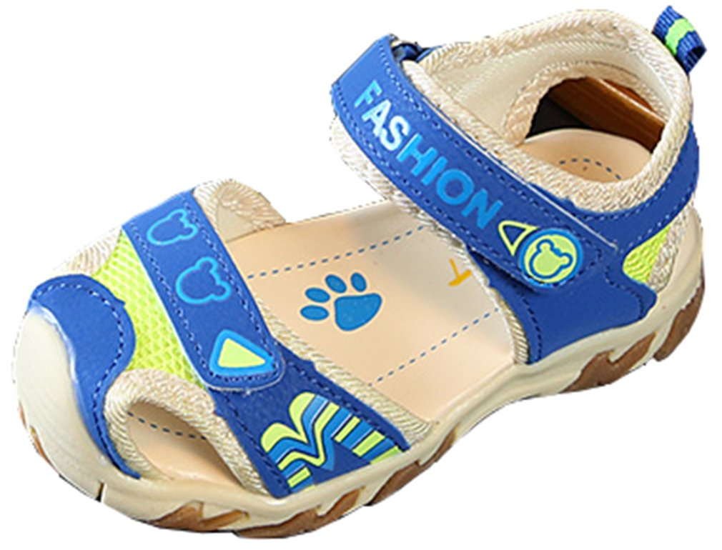 VECJUNIA Boy's Girl's Athletic Sandals Low Top Closed Toe Anti-Slip Outdoor Sports Sandals (Sky Blue, 6.5 M US Toddler)