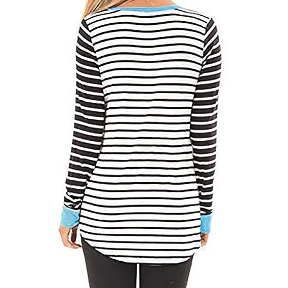 Mujer blusa Sudadera tops manga larga casual Deportes Otoño,Sonnena Sudadera con cuello en V de manga larga para mujer Remiendo multicolor traje moda urbano ...