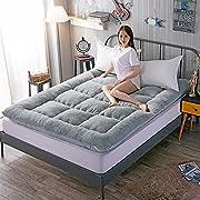 LJ&XJ Thick Warm Tatami Mattress,Hygroscopic Breathable Mattress Topper Durable Tatami mat Soft Foldable Floor mat-Grey 90x200cm(35x79inch)
