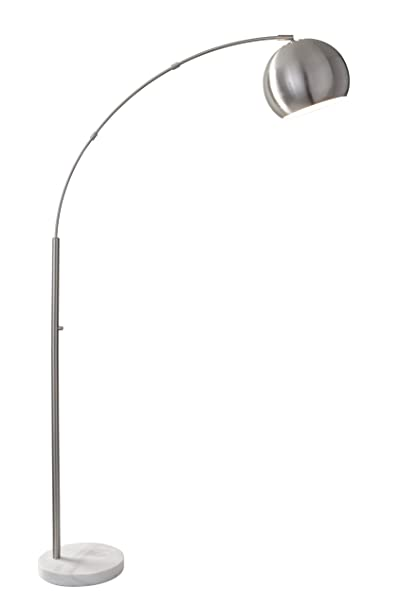 """Adesso 5170 22 Astoria 78"""" Modern Chic Astoria Arc Lamp, Brushed Steel, Smart Outlet Compatible, 42"""" X 12"""" X 78, Brushed Steel by Adesso"""