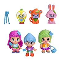 Pinypon 700013370 - Mini Poupée - Coffret 6 Figurines City en Animaux