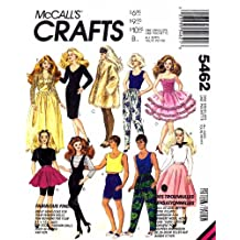 Barbie Ken Dolls Clothes McCall's 5462 Sewing Pattern