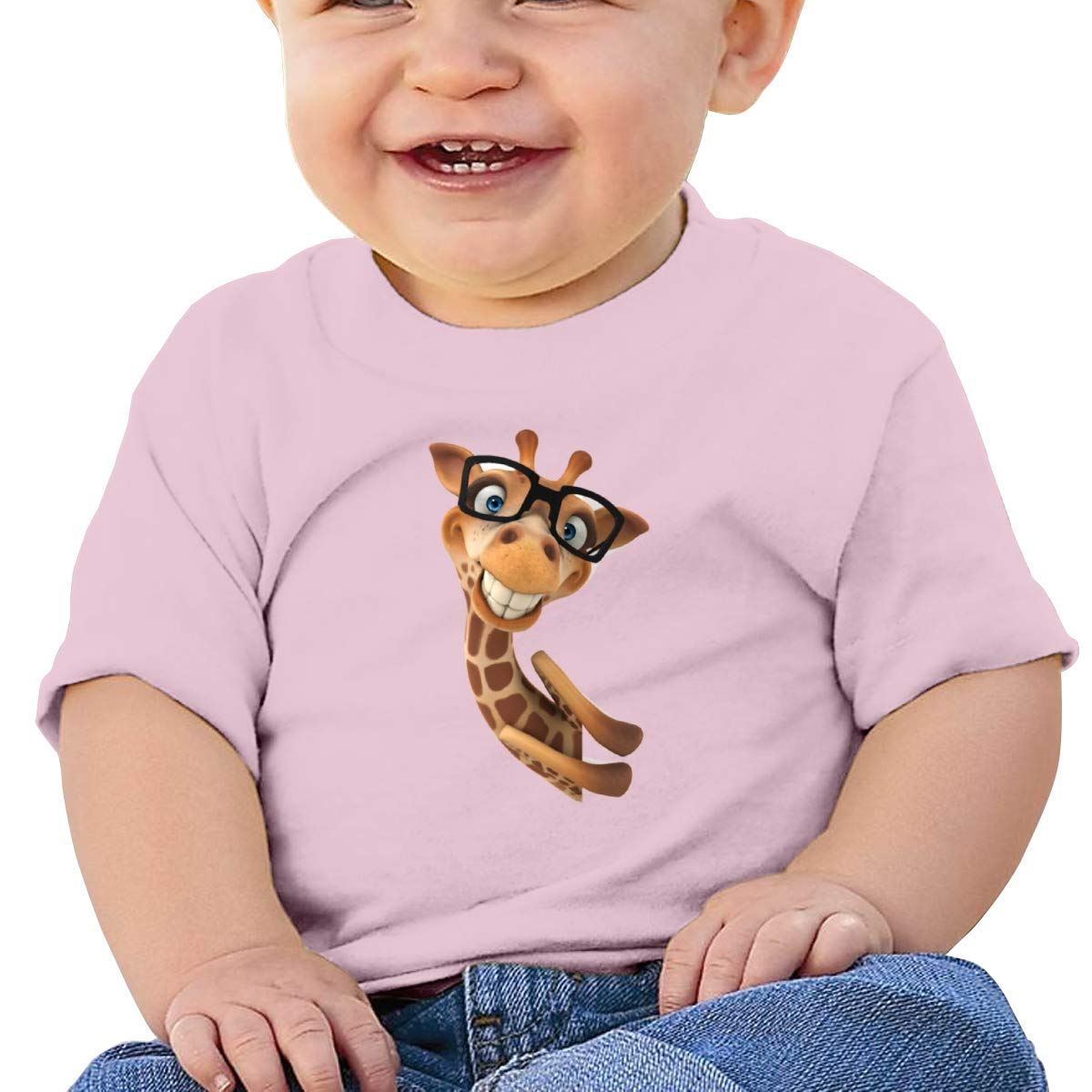 Moniery Funny Giraffe Short Sleeve Tee Baby Boy Infant