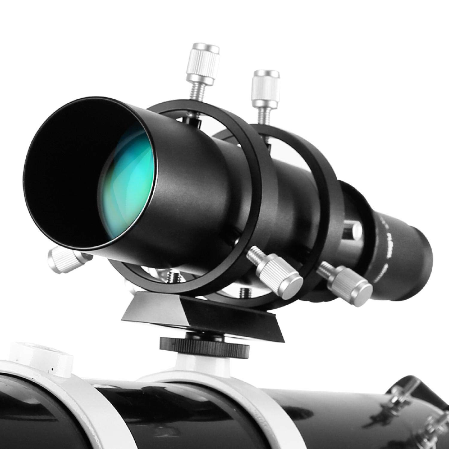 50mm Guide Scope Fully Coated Guidescope Finder Eyepiece with Bracket 1.25'' Telescope Accessories by Afra Coffey Bb