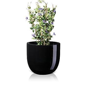 Pflanzkübel Blumenkübel BOTTAS 61 Fiberglas, 70x70x61 cm, schwarz ...