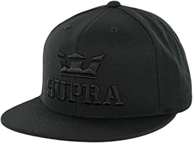 Supra Mens Above II Adjustable Snapback Hats,One Size,Grey Heather//Navy