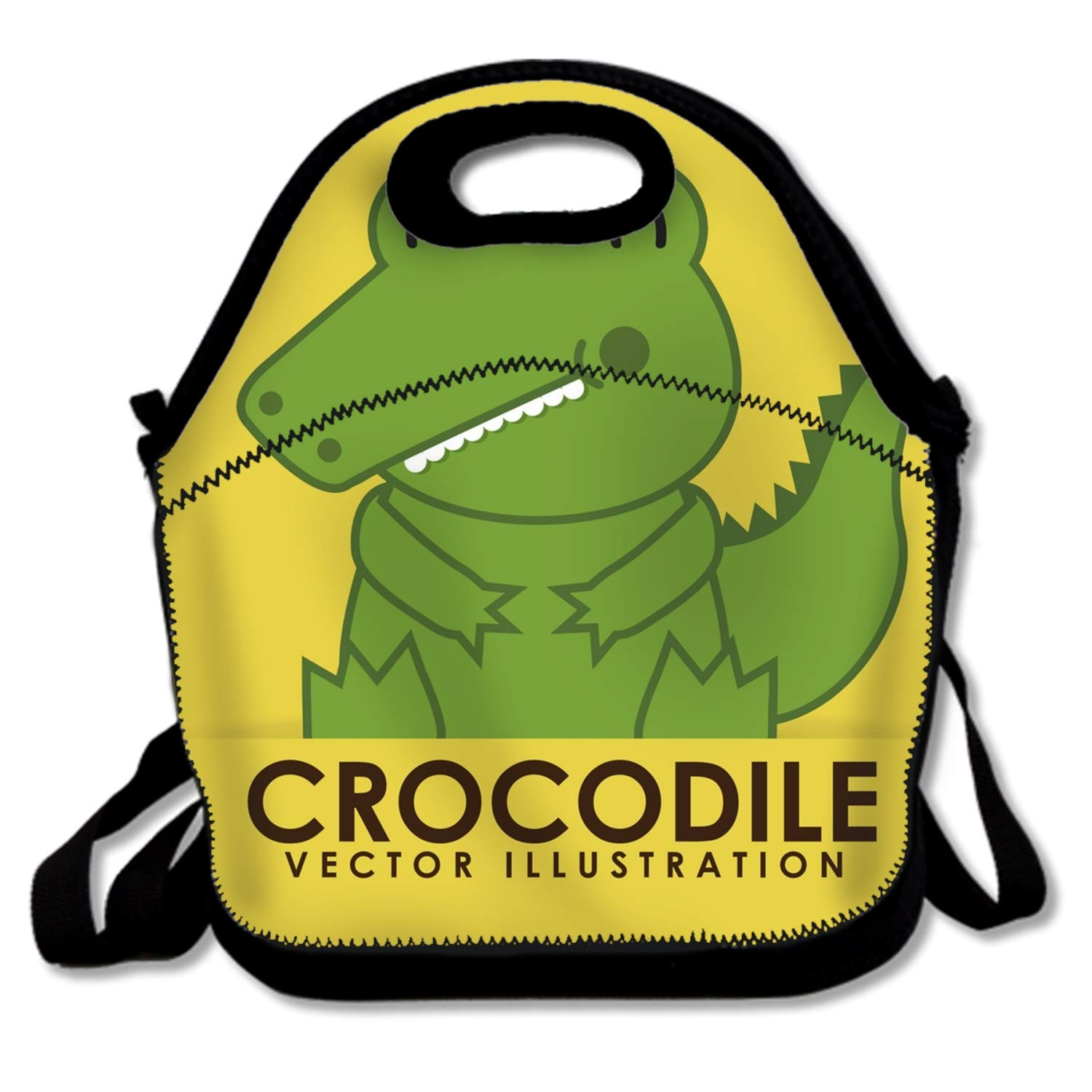 Cute Lunch Bag/Lunch Box/Lunch Tote/Picnic Bags Insulated Cooler Travel Organizer Crocodile Cute