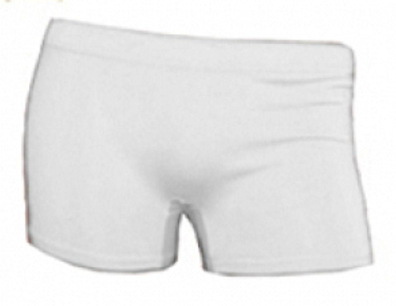 Girl/'s WHITE Stretchy Hot pants PE Shorts 5-12yrs Dance Hot Pants