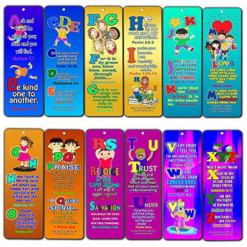 ABC Bible Verses for Kids (30-Pack) - Handy Memory Verses for Kids Perfect for Children's Ministries and Sunday -