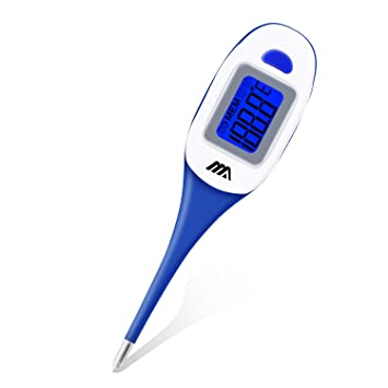 Basal Thermometer by Benewell-Digital Axillary Temperature Fever Thermometer-Oral Rectal Monitor-Fast