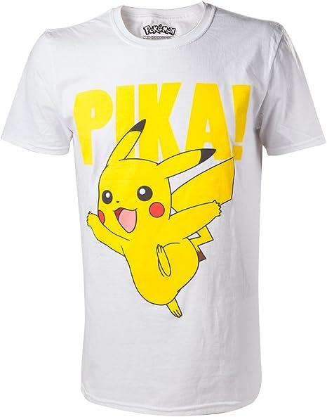 T-shirt Femme Col Rond Echancré pokemon pikachu casquette mignon swag