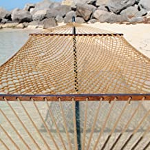 Caribbean Rope Hammock - 55 Inch - Soft-Spun Polyester (tan)