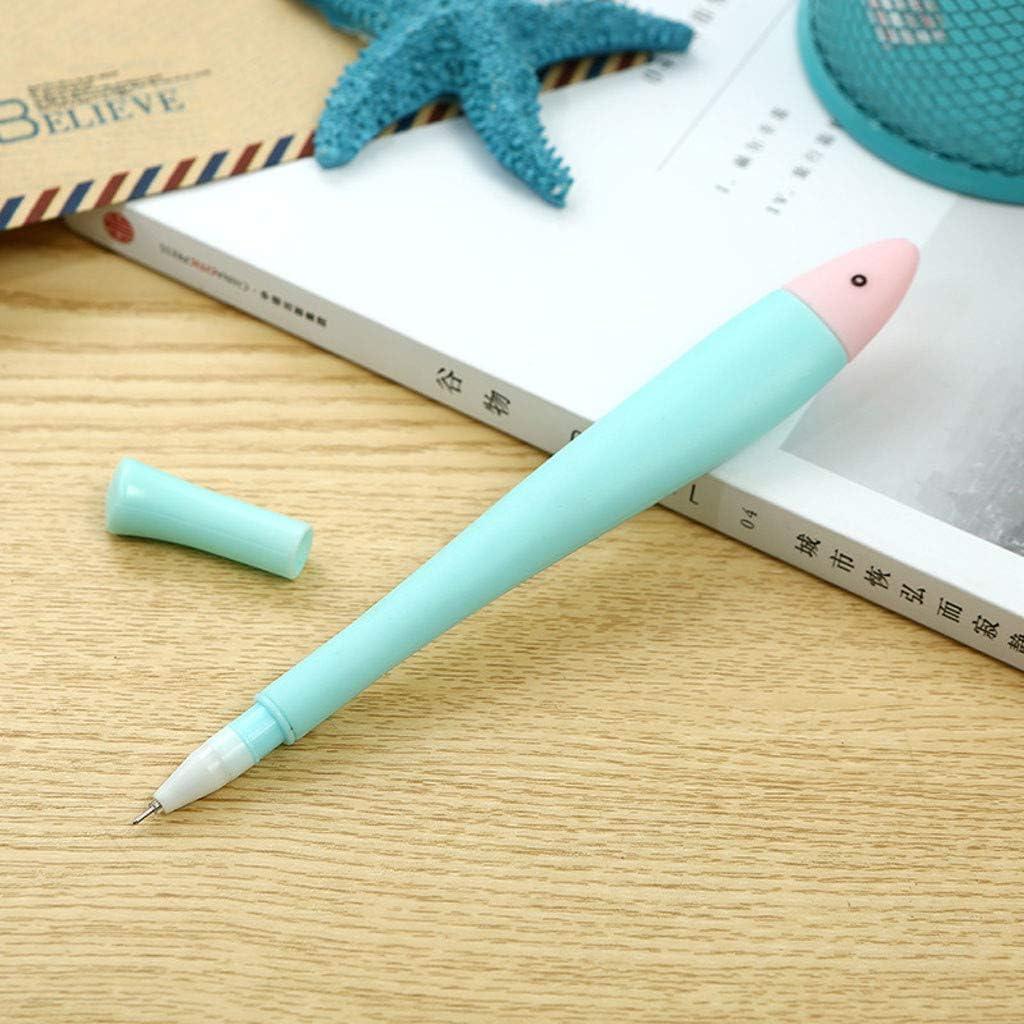 Yu2d - Bolígrafos de Gel con Forma de pez para niños y Estudiantes ...