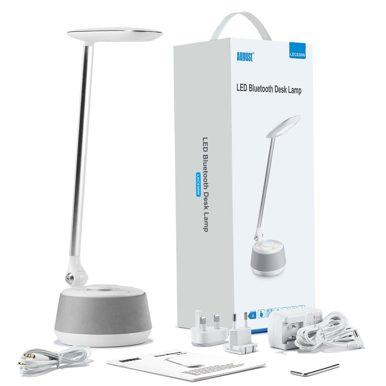 Tactile Haut 5w Led Chevet Bureau De – Parleur Lampe Sans August Enceinte Lec630 Fil Avec Intégré 7wblanc Bluetooth 5A4R3jL