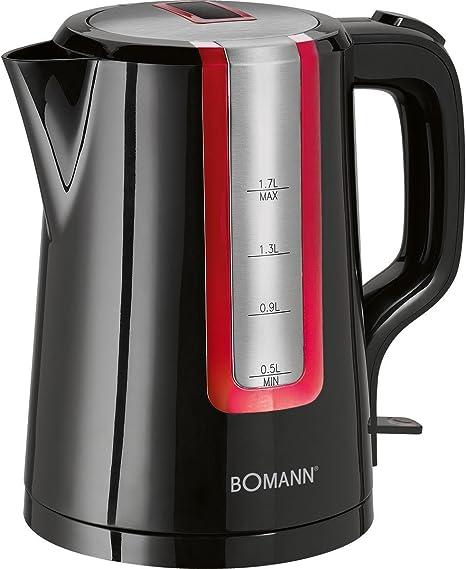 0 Decibeles 2200 W Acero Inoxidable Crema y negro Bomann WK 1566 CB Hervidor de agua el/éctrico 1.7 litros