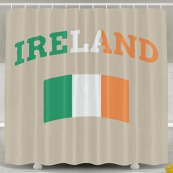 Vintage Irish Ireland Shower Curtain With Hooks 60x72inches