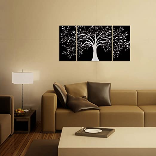 Amazon.com: Black and White Tree of Life Metal Wall Art - 50\