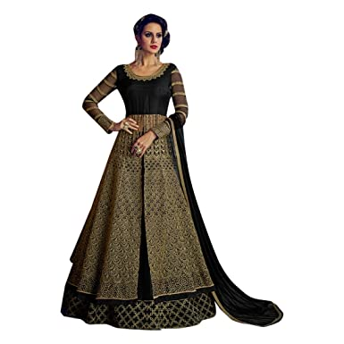 Amazon.com: Traje de Salwar de Anarkali de diseño de Palazzo ...