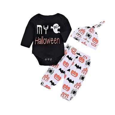 80b6e7e862e0 Amazon.com  Hatoys Halloween Costume Cute Baby Girls Boys Pumpkin ...